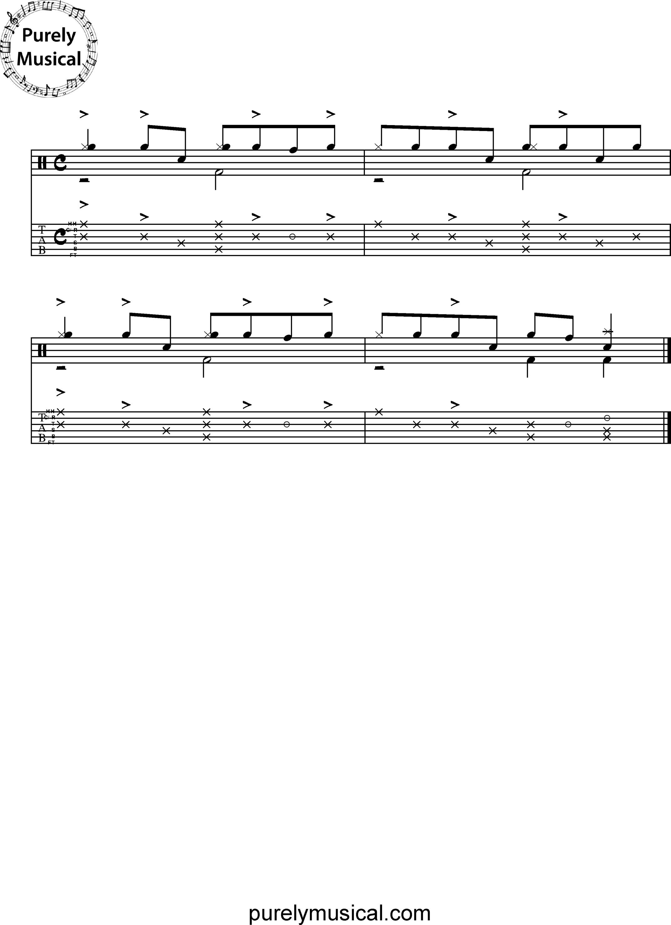 Advanced  Drum Grooves - Mozambique Grooves Mozambique Exercise No 1