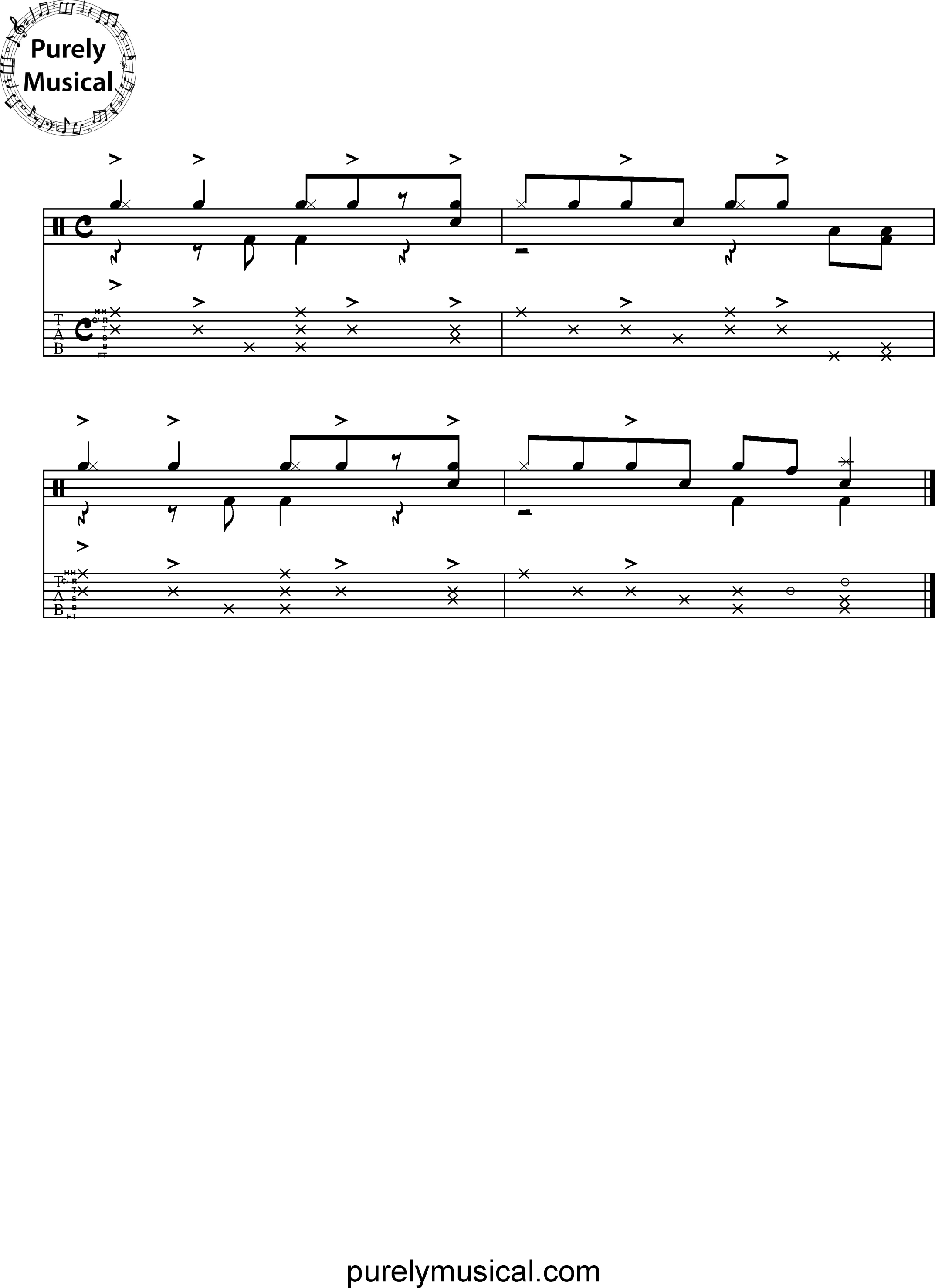 Advanced  Drum Grooves - Mozambique Grooves Mozambique Exercise No 3