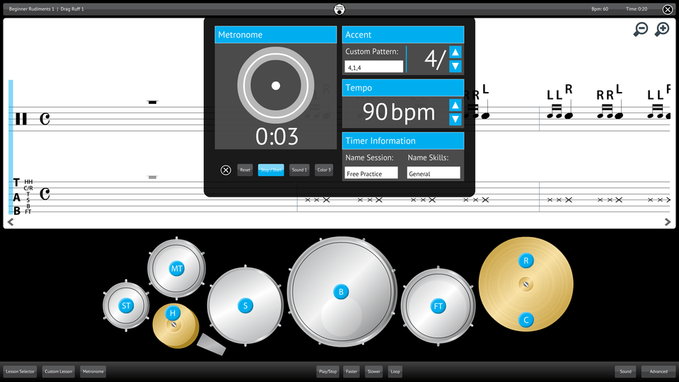 Purely Drums Screenshot Custom Metronome