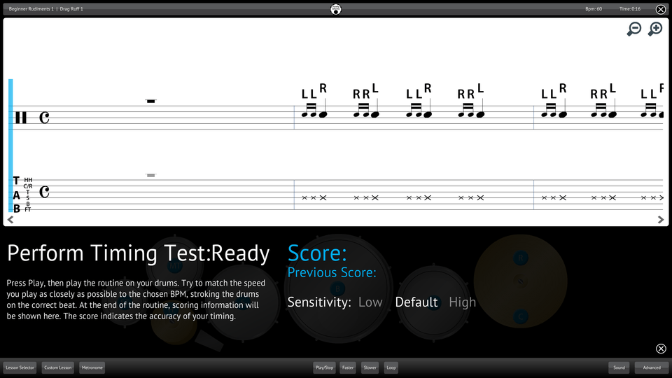 Purely Drums Screenshot Perform Testing Ability