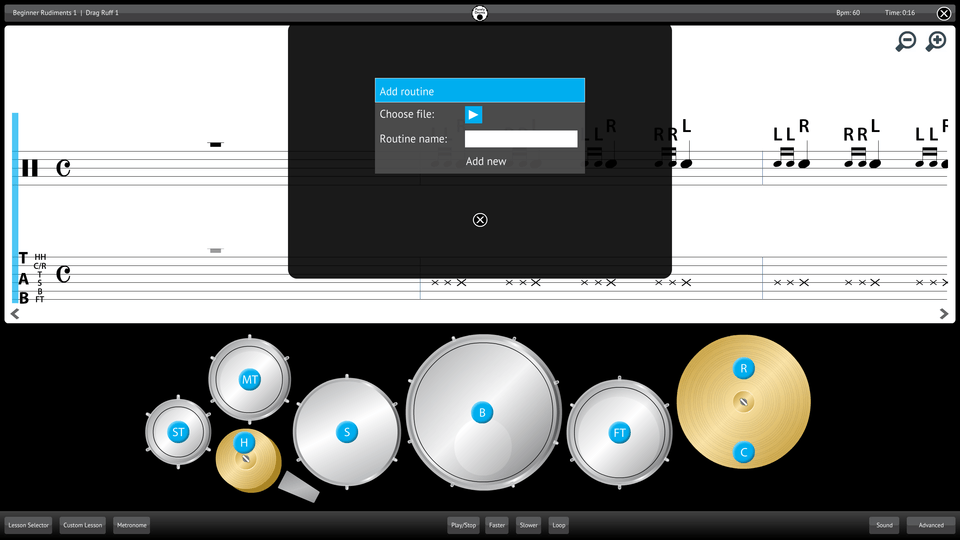 Purely Drums Screenshot Add Import Content